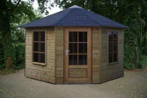 Tuinhuisje 5 hoekig met vijfzijdig dak b
