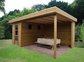 Tuinhuisje met plat dak